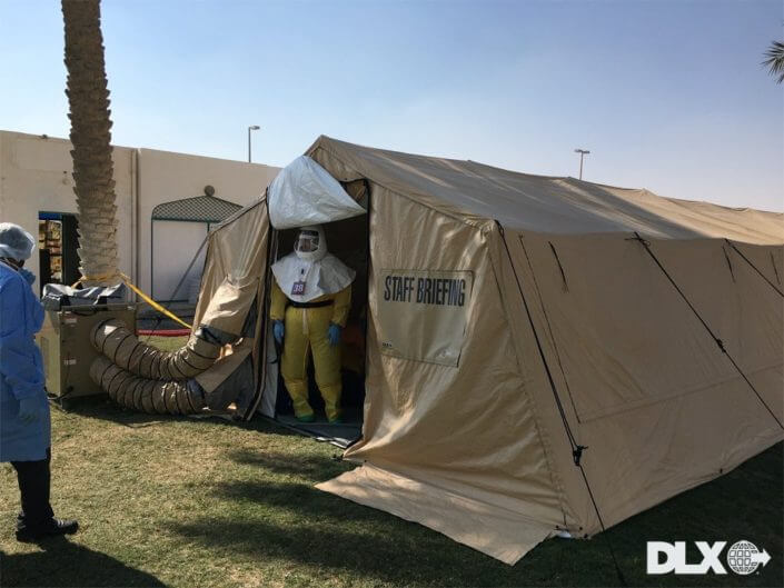 DLX ASAP Rapid Shelter Tent  - Hazmat Decon